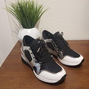 MICHAEL KORS Scout Metallic Black/Silver Sneakers